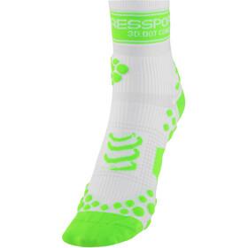 Compressport Racing V2 Run High Socks White/Green